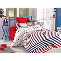 Eponj Home Single Quilt Cover Set - Duvet Cover: 140 x 200 cm Pillowcase: 60 x 60 cm (1 Piece)