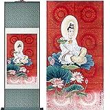 Avalokitesvara-Malerei Traditionelle Kunst Porträtmalerei Innenministerium Dekoration traditionelle Avalokitesvara-Malerei,Greenpackage,140x45cm