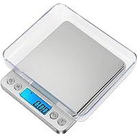 GPISEN Balance Numérique de Précision, Balance d'ordinateur Portable, avec écran LCD et 6 Unités, Plateau en Acier…