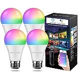 LE WLAN Lampe E27, 9 W Intelligente Glühbirne, WiFi, Alexa, 806 lm, RGB Farben mit Warmweiß, verbunden, WiFi, kompatibel…