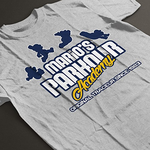 Super Mario Odyssey Parkour Academy Men's T-Shirt Heather Grey