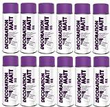 12er Sparpack DC Lackspray matt 400ml nach RAL freie Farbauswahl (12 Dosen in violett MATT RAL 4005)