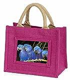 Advanta-Mini Pink Jute Tasche Blüten Ara Papageien Little Mädchen klein Einkaufstasche...