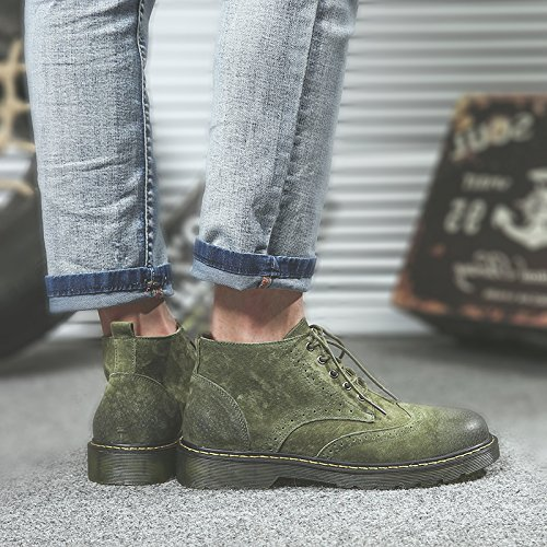 Hl-pyl-rotate Maomading Chaussures Et Bottes Bottes Rétro. Vert