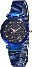 MENGZHEN 1PC Damen Wasserdichte Lady Watch Kreative Starlight Dial Watch Sky Star Armbanduhr
