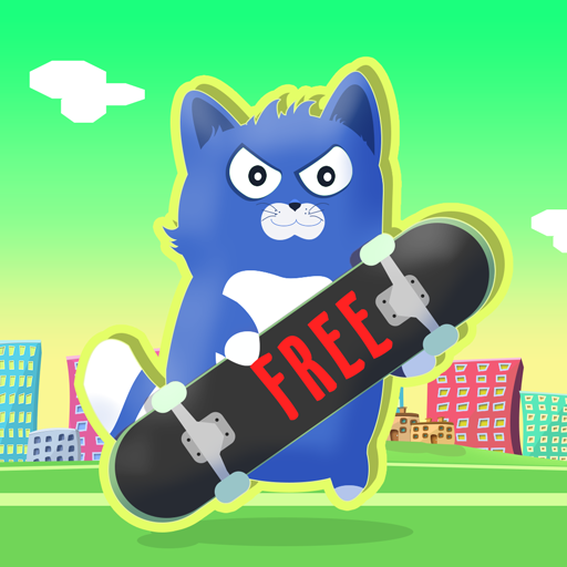 Little Kitty on a Skateboard : The Cat Skate Race Game Fun Simulator - Free Edition (Edition Skate)