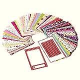 Polaroid bunte, lustige und dekorative Sticker für Fotoränder für 5 x 7,5 cm Fotopapier Projekte (Snap, Zip, Z2300) - 100er-Pack