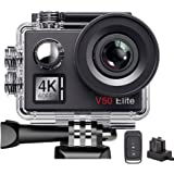 AKASO V50Elite 4K 60fps WiFi Action Camera Touch Screen Voice Control EIS 40m Underwater Waterproof Camera Adjustable View An