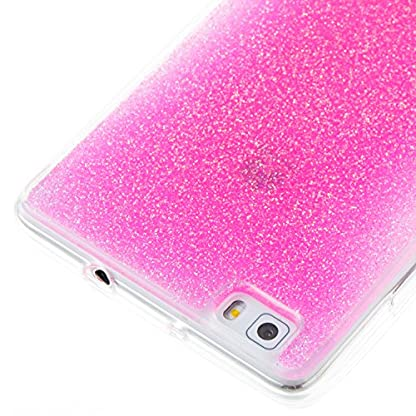 COZY HUT Huawei P8 Lite Gel Case, Sparkle Luxury Bling Glitter Soft Acrylic TPU Bumper Phone Case Protective Shell Cases Covers for Huawei P8 Lite - Pink 4