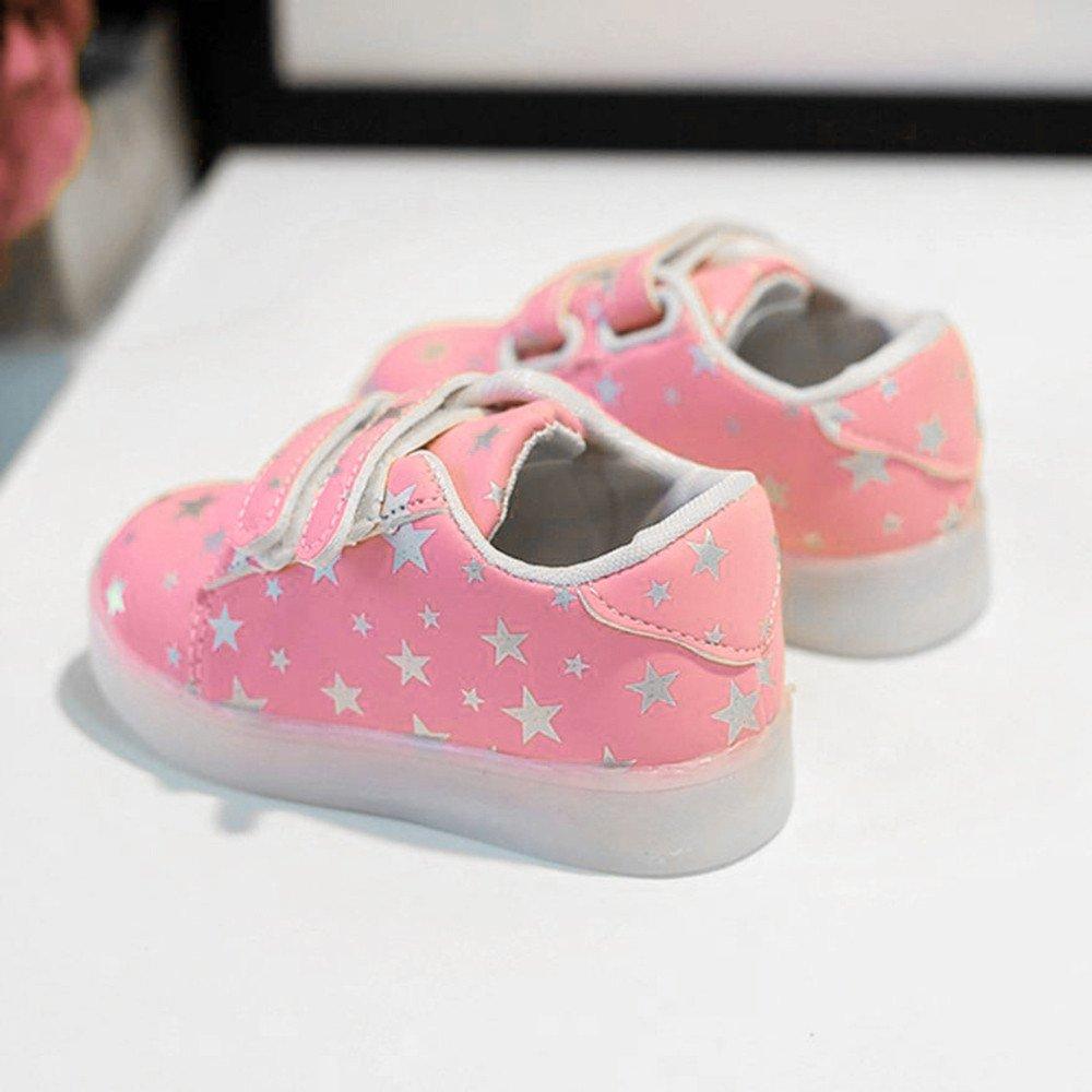 FNKDOR Baby LED Schuhe Kinder, Mädchen Jungen Licht Turnschuhe Leuchtend Blinkschuhe Sportschuhe, 1 6 Jahre