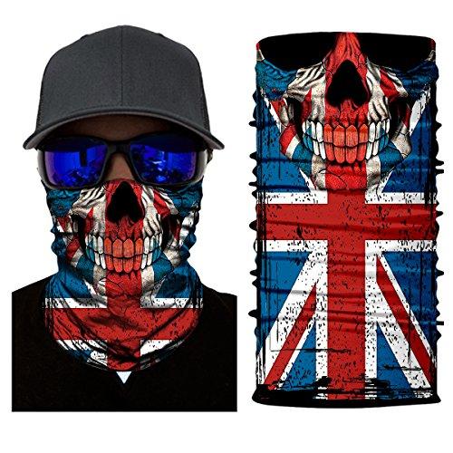 ShopINess Pañuelo bandana multiuso Calavera bandera UK