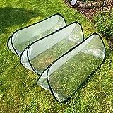 Pack of 3 - Large - 1.5m x 0.6m x 0.6m High - Garden Pop-Up UPVC Mini Greenhouse Poly Cloche Tunnel Bild 1