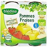 Blédina Purée de Fruits Pomme Fraise 4 Pots de 130 g