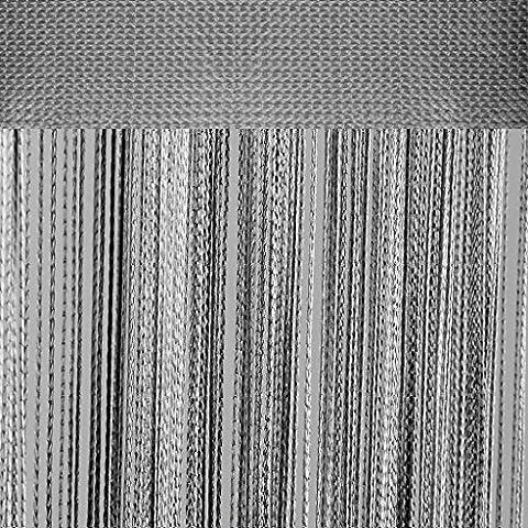 Fadenvorhang mit Stangendurchzug, individuell kürzbare Gardine, moderner und eleganter Dekorationsartikel