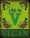 1art1 77979 Kochkunst - 100% Vegan Poster Kunstdruck 50 x 40 cm