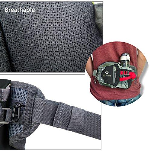 Taille Tasche,Tragbare Wasserflasche Design Auf der Taille Tasche für Reisen, und Outdoor Aktivitäten nylon fabric multied-color, by LC Prime Schwarz