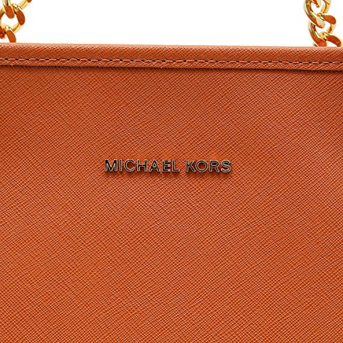 Michael Kors Jet Set Travel Chain Top-zip Multifunctional, sac bandoulière Orange Leather