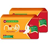 Niine Extra Long Sanitary Pads for women (Pack of 2), With disposable bags inside, 36 Pads Count (Super Saver Pack)