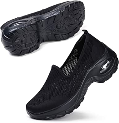 STQ Womens Walking Shoes Slip On Lightweight Breathable Comfy Shoes Mesh Tennis Outdoor Gym Running Sneakers