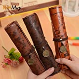 Weimay PU Leather Pencil Case Travel Drawing Porta Lápices Más Adecuado para Escritores Artistas y Estudiantes Extra Large