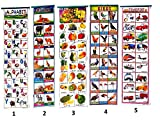 #4: Light Gear Kids Early / Pre School Learning Wall Hanging 10 Different Charts