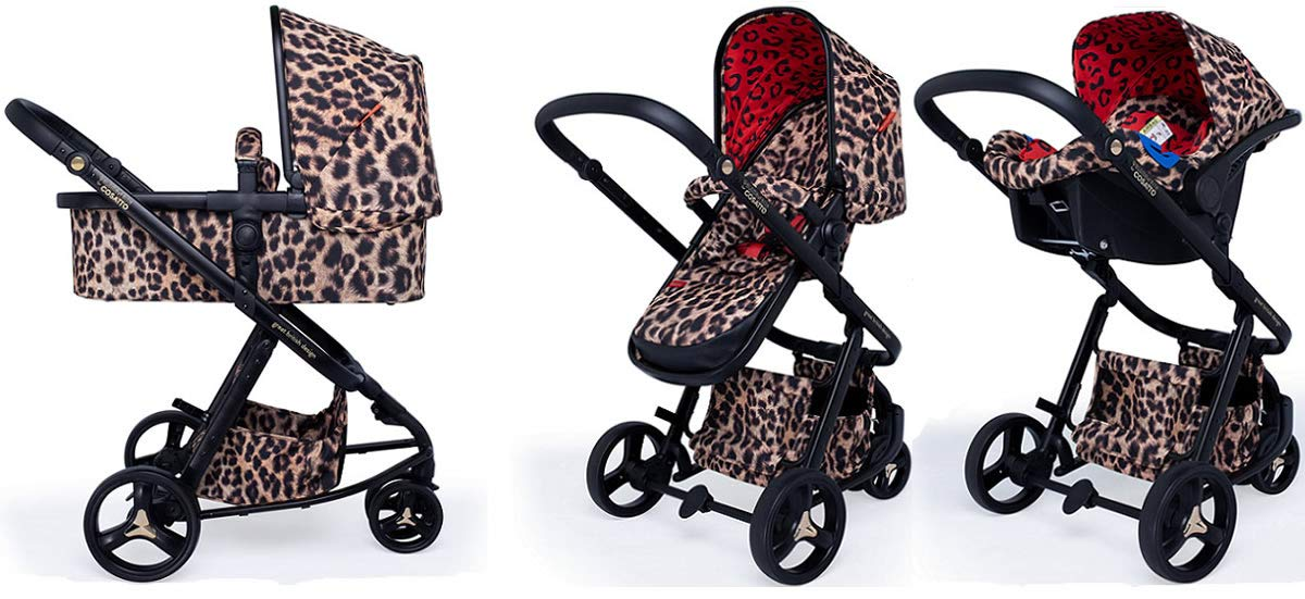Cosatto Paloma Giggle 3 Travel Sytem Hear us Roar with Car Seat adaptors & Raincover Cosatto Includes - Pushchair, Carrycot, Port Car seat, adaptors and Raincover All round suspension Suitable from birth carrycot and Car seat 1