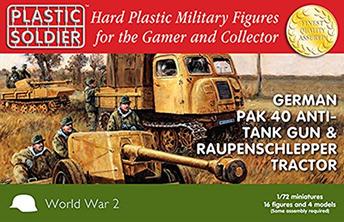 German pak 40 and raupenschlepper tractor 1/72