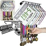 Medallero colgador de medallas (100% Acero) - Fabricado en España (Negro)