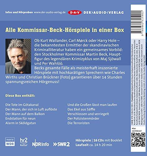 Die große Kommissar-Beck-Box – Seine gesamten Fälle: Hörspiele mit Charles Wirths, Christian Brückner u.v.a. (16 CDs): Alle Infos bei Amazon