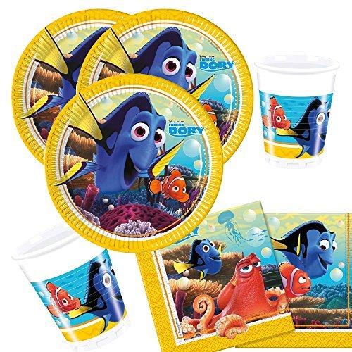 t Findet Dory - Findet Nemo 2 - Teller Becher Servietten für 8 Kinder (Nemo-party)