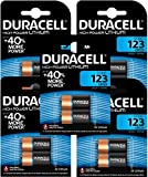 Batterie Duracell CR123 123- Lotto di 10 pile Blister 3 V al litio (5 Blister da 2 pile)