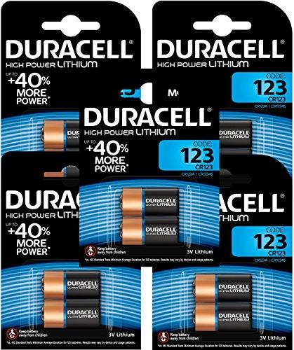 Duracell Ultra 123 - Pilas para cámaras digitales (3 V, litio, 10 unidades)