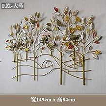 Y-Hui hierro muros de pared para montaje en pared Gateway-To estéreo-Hyeon-Decorated Salón muebles, accesorios para el hogar ,F) - grande