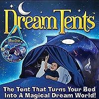 Tente Enfant Interieur -Ciels de Lit Tente de Rêve Pliable -La Base secrète d'enfant -Cadeau Noël pour Enfant