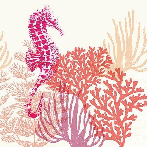 Ambiente Papierservietten - Servietten Lunch / Party / ca. 33x33cm Coral Red - Ideal Als Geschenk Und Tisch-Deko (Coral Tisch)