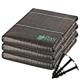 Elixir Gardens 1m x 50m Heavy Duty Woven Weed Landscape Fabric Control Ground Cover + 50 Pegs Prime