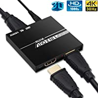HDMI Splitter 1 In 2 Out, edola [Upgrade] Aluminium Ver1.4 HDCP, 4K 1x2 HDMI Splitter…
