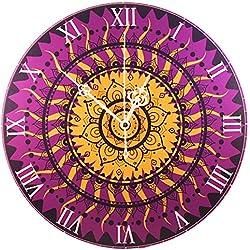 """""""Reloj de pared -"""" Mandala púrpura de oro """""""