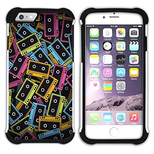 Graphic4You TV Vector Art Muster Design Hart + Weiche Kratzfeste Hülle Case Schale Tasche Schutzhülle für Apple iPhone 6 Plus / 6S Plus Design #19