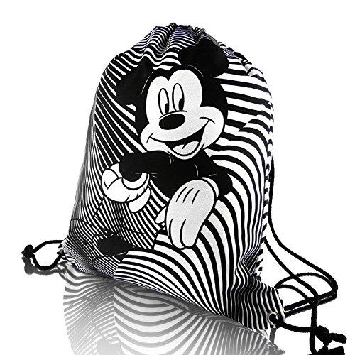 Mickey-mouse-taschen (Disney original Mickey Mouse FUNNY COLLECTION jugend kordelzug schuhbeutel rucksack mit Tasche und Futter HOHE QUALITÄT)