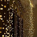 Wokee 14 Zweig 280 Stück LED Sterne mit Licht Lampe Wasserdichte Outdoor Kupferdraht Lampe Leuchtpunkte und Leuchtsterne für Sternenhimmel LED Lichterkette Sterne String Licht
