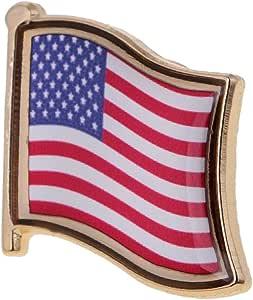 D DOLITY Distintivo Metallico Spilla A Forma di Bandiera Nazionale Flag