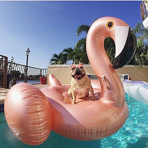 Aufblasbarer Flamingo Luftmatratzen und langlebiges PVC-Material Geeignet für Kinder und Erwachsene Im Meer oder Schwimmbad Genießen Sie