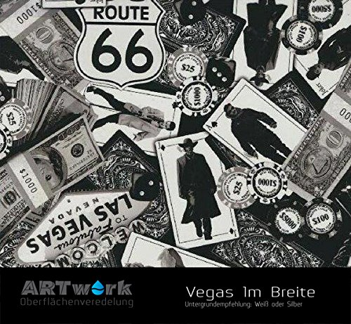 Wassertransferdruck Folie ARTwork Vegas 1m Breite