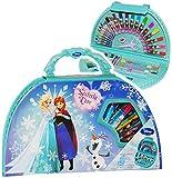 alles-meine.de GmbH Stifte-Koffer -  Disney die Eiskönigin - Frozen  - 51 TLG. Set - Malkasten - Malkoffer mit Stiften + Filzstifte + Buntstifte + Wasser Farben + Wachsmal Farb..