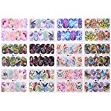 Zibuyu 12 Sheets Butterfly Nail Art Water Transfer Stickers Decal Diy Nail Tips