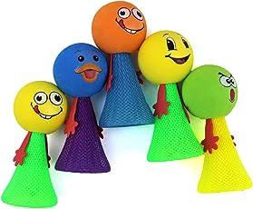 GOLD LEAF Kid's Smiley Emoji Jump Elf Fly Toy (9x4.5cm, Multicolour)-Set of 20