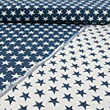Gobelinstoff Sterne 2-seitig verwendbar Jeansblau