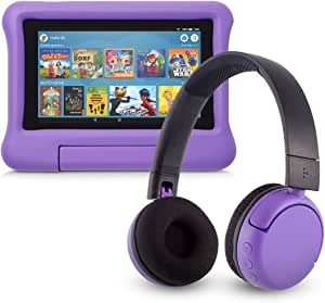 Fire 7 Kids Edition Tablet 16 Gb Violette Kindgerechte Hülle Mit Poptime Bluetooth Headset Altersklasse 8 15 Jahre Amazon Devices