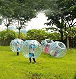 Aufblasbare Bubble Ball Zorbing Kugel Körper Stoßstange Fußball Bubble Soccer für Erwachsene Kinder PVC Zorb Soccer Transparent Schultergurte und Handgriffe im Inneren